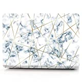 AQYLQ MacBook Schutzhülle/Hard Case Cover Laptop Hülle [Für MacBook Pro 13 Zoll mit Retina Display : A1425/A1502], Plastik Hartschale Tasche Schutzhülle, S19-9 White & Glod Marmor