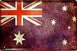 Länder Fahne Nationen National Flagge Australien Australia 20x30 Blechschild 1438
