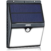 AMIR Solarleuchten, 16 LED Solarlampe, Wetterfeste Bewegungssensor Solarlampe, Auto On/Off Solar Außenleuchte, Sicherheitslicht Wandleuchte für Garten, Patio, Auffahrt, usw.