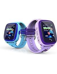 MiniInTheBox ips lbs reloj inteligente niños impermeables gps nadan sos llaman los niños del perseguidor del monitor de seguridad anti-perdida (Blue)