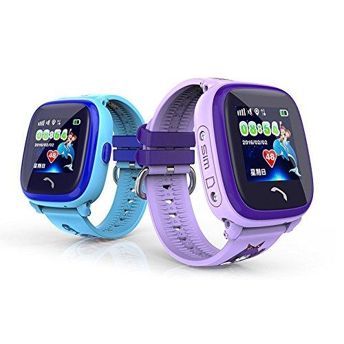 MiniInTheBox ips lbs reloj inteligente niños impermeables gps nadan sos llaman los niños del perseguidor del monitor de seguridad anti-perdida (Purple)