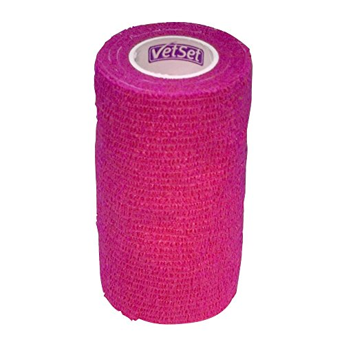 Wraptec Haftbandage, 10cm breit Pink, 6Stück. -