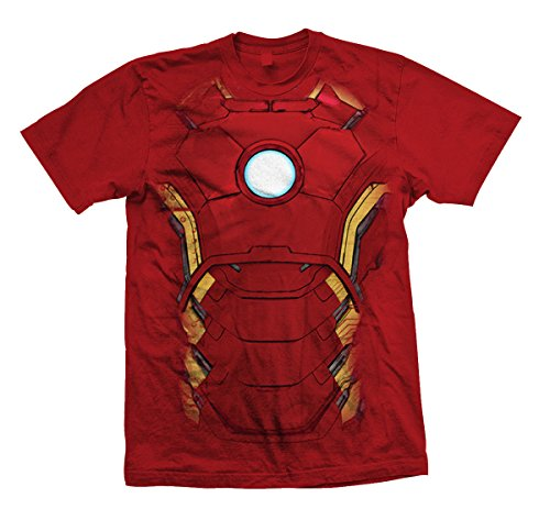 Marvel Official T Shirt The Avengers Iron Man Chest Print