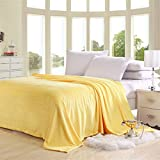 Swiftswan Flannel Luxury Blanket, Leichte Gemütliche Plüsch Mikrofaser Solide Decke Plüsch Decke für Sofa Couch 39.37