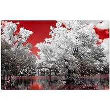 """iRocket interior Suelo Alfombra/Alfombrilla–Rojo Sky (23.6""""x 15.7"""", 60cm x 40cm)"""