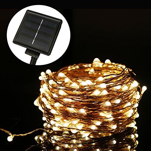 Luces Solares Cadena, ALED LIGHT Guirnalda de Luces 200 LEDs 20m Impermeable...