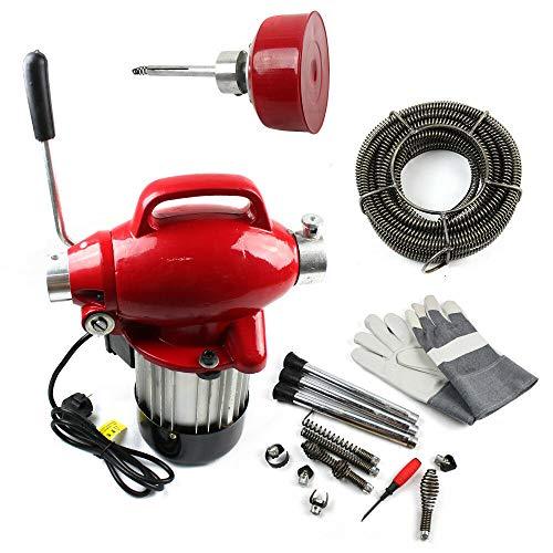 WUPYI2018 Rohrreinigungsmaschine,250W Rohr-Reiniger Reinigung Werkzeug,für Abwasserleitungen von PHI 20-100 - mm diameter(3/4) -