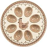 Villa d 'Este Home Tivoli Lilly Plato Porta huevos 8 plazas, Dolomite, blanco/gris