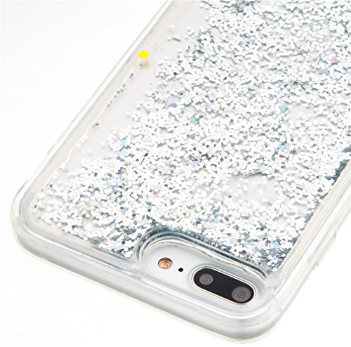 Mk Shop Limited Coque Housse Etui pour iPhone 7 Plus, iPhone 7 Plus Coque en Silicone Glitter, iPhone 7 Plus Silicone Coque Housse Transparent Etui Gel Slim Case Soft Gel Cover, Etui de Protection Cas Multi-couleur 1