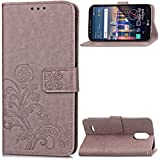 Best Lg Leon Cases - TAITOU LG Leon C40 Wallet Stand Case, Knurling Review