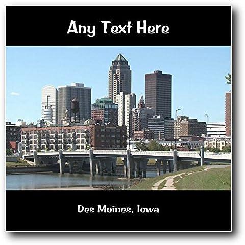 America USA Des Moines, Iowa-Targa da parete quadrato in acrilico
