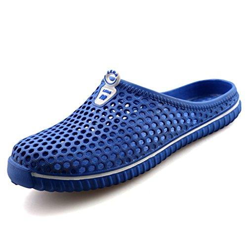 Saguaro estate pantofole da all'aperto spiaggia ciabatte slippers casa pattini sabot scarpe per donne uomini, blue 39