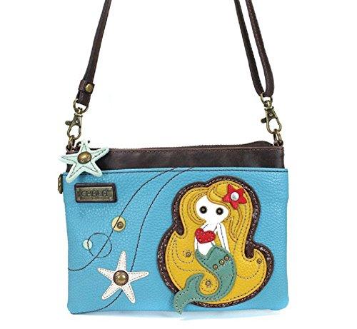 Chala Mermaid Mini-Geldbörse, Blau Handy Messing