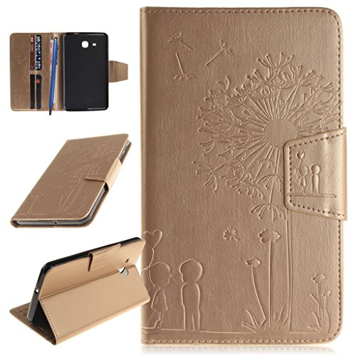 CareyNoce Galaxy Tab A 7.0 Tablette Hülle,Painted Prägemuster Design PU Leder Abdeckung Stand Flip Schutzhülle Hülle für Samsung Galaxy Tab A 7.0