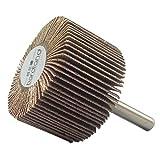 Bardland Sanding Sandpaper Flap Wheel Disc 60 Grit For Dremel Rotary Tools (40 x 25 x 6)