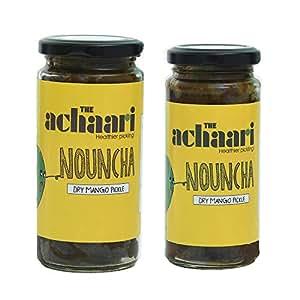 The Achaari Nouncha, 100% No Oil & No Preservative, Homemade Dry Mango Pickle, Combo Pack (400 Grams + 250 Grams)