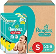 Pampers Pants with Aloe Vera,Size Small 4-8kg, (258 Counts)