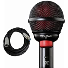 Audix Fireball V Harmonica Beatbox Microphone Fire Ball V w Free 20ft Cable