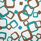 WANDfee Wandtattoo Vierecke 80 Aufkleber FARBWUNSCH Wandaufkleber Kinderzimmer Wohnzimmer Flur Fliesenaufkleber Bad Badezimmer Küche
