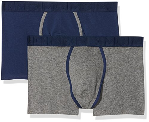 Dim Herren Panties, 2er Pack Multicolore (Gris Chiné/ Bleu Marin)