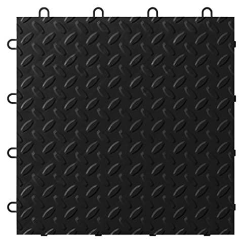 Gladiator GarageWorks GAFT24TTTB Black Floor Tile, 24-Pack by Gladiator
