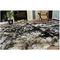 Meryno Genuine 6 Sheepskin Rug White-black Hand Selected Fluffy A++ - x large