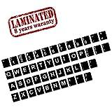 Englische US Tastaturaufkleber Tastatur Keyboard Aufkleber Stickers Layout Tastatur-Aufkleber für PC, Laptop, Notebook, Computer-Tastaturen Schwarz