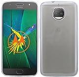 cofi1453 Silikon Hülle Tasche Case kompatibel mit Lenovo Motorola Moto G5S Plus Zubehör Gummi Bumper Schale Schutzhülle Zubehör in Transparent