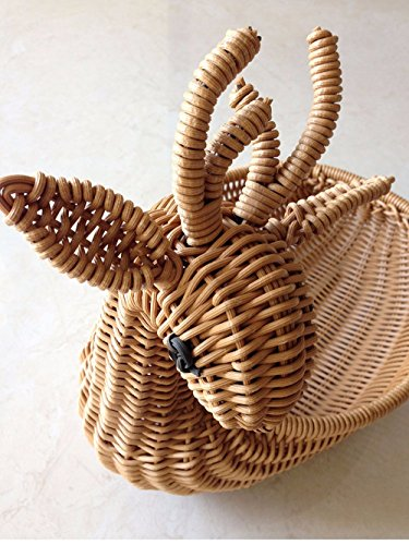 SSBY In similpelle di rattan ceste di storage cesti di frutta fioriere cesti cesti display piatto di frutta secca cesti piccoli cervi,M
