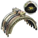 Guo Fa 5PCS mix color 8.5cm borsa del metallo telaio gancio di traino Kiss chiusura per Pures maniglia per borsa da cucire Craft Tailor Sewer