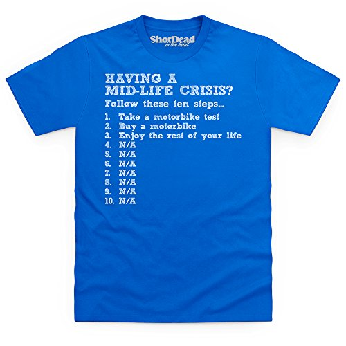Mid-Life Crisis T-shirt, Uomo Blu royal