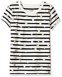 Marca Amazon / J. Crew - LOOK by crewcuts Camiseta de manga corta para niñas con rayas y corazones