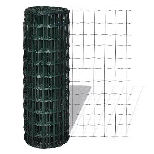 Lingjiushopping Euro-valla près de 25 x 1,2 m avec Mailles 100 x 100 mm matériau : Fil d'acier recouvert de PVC Tama ? ou de Bain : 100 x 100 mm