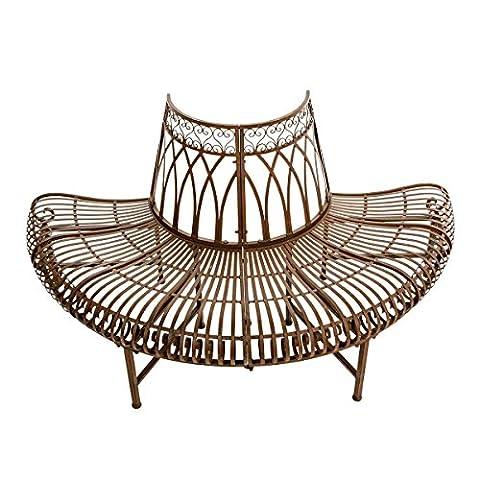 Half Circle Ornate Metal Tree Bench Seat (Metallo Rotonda Panca)