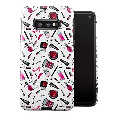 DODOX Case Cover Kompatibel mit Samsung Galaxy S10e Silicone Inner & Outer Hülle 2-Teilig, Doppellagig: PC + TPU Robuste Handyhülle Girls Make Up Cute Pattern