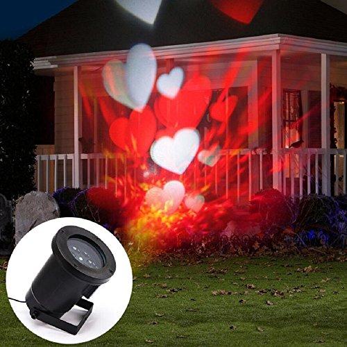 Lumi re no l rouge for Projecteur lumiere maison