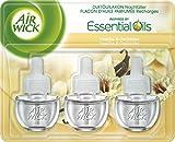 Air Wick Duftölflakon 3er Pack, Nachfüller für Duftstecker, Vanille & Orchidee