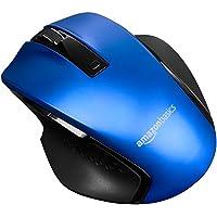 AmazonBasics Souris ergonomique sans fil compacte avec défilement rapide, Bleu