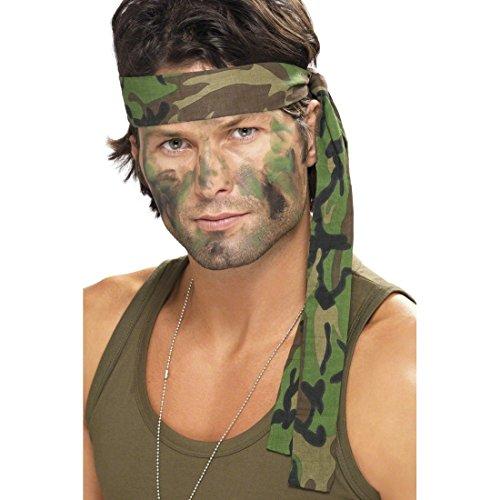 Army Stirnband Camouflage Haarband tarnfarbe Kopfband Armee Militär Uniform Kopfbedeckung Soldaten Kämpfer Tarnband Krieger Kostüm Accessoire (Krieger Kostüm Accessoires)