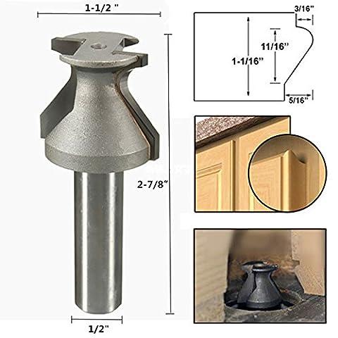 EsportsMJJ 1/2 Pouce Shank Woodworking Chisel Cutter Tool Outil De Lèvre Et De Doigt Router Bit