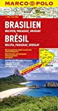 MARCO POLO Kontinentalkarte Brasilien, Bolivien, Paraguay, Uruguay 1:4 Mio - (MARCO POLO Kontinental /Länderkarten) - Polo Marco