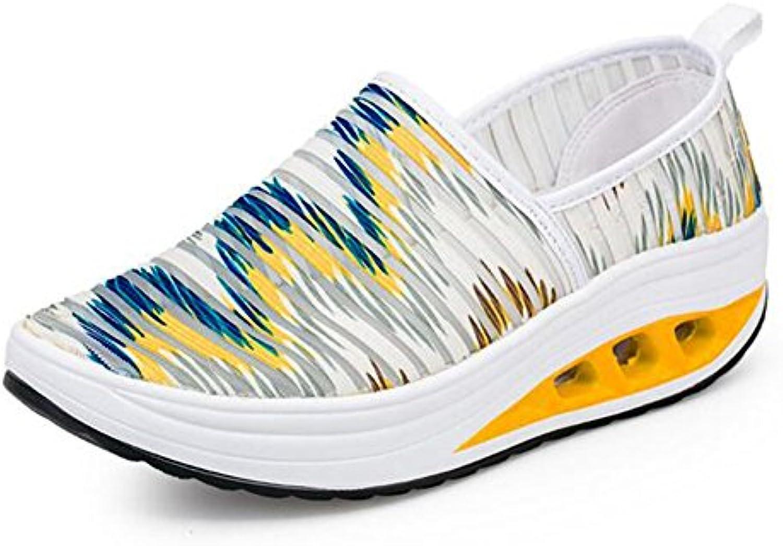 Zapatos Casuales para Mujeres, Zapatillas de Gimnasia Suaves Zapatos de Malla Transpirables Suaves Parade Plataforma...