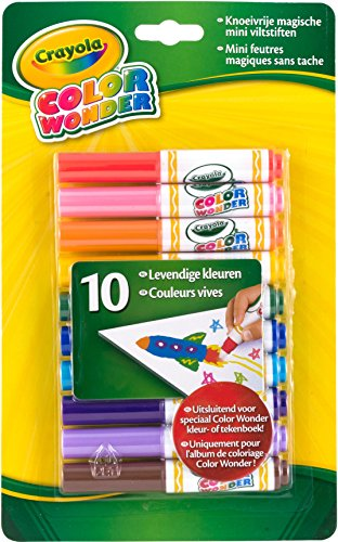 Crayola Color Wonder Mini Markers 10/Pkg- (Color Wonder Mini)
