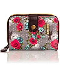 Swankyswans Hayley Dragonfly and Rose Print Small Wallet, porte-monnaie