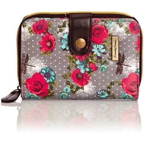 SWANKYSWANS® Hayley Dragonfly and Rose Print Small Wallet, Portafoglio (Pelle Cambridge Cartella)