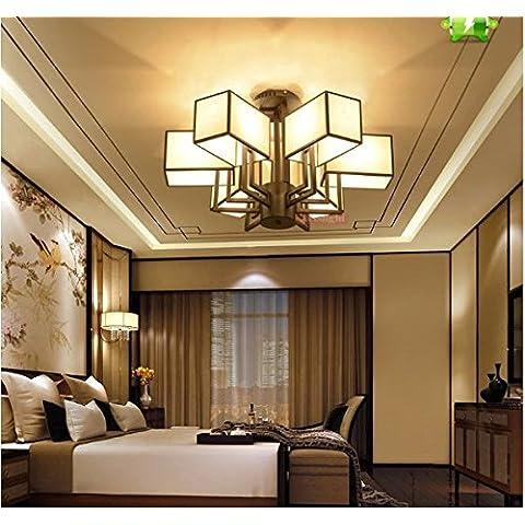 Cinese antico lampadario in ferro battuto a