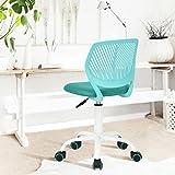 Silla de oficina Ihouse giratoria sin brazos de malla ajustable silla de escritorio (turquesa)