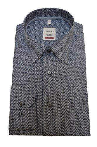 Haupt Herren Modern Fit Baumwoll-Hemd Grau