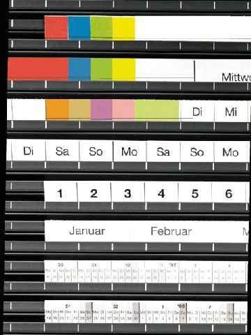 Legamaster Kalenderstreifenset, 1-53 / Jan-Dez, Wochentagsstreifen Mo-So