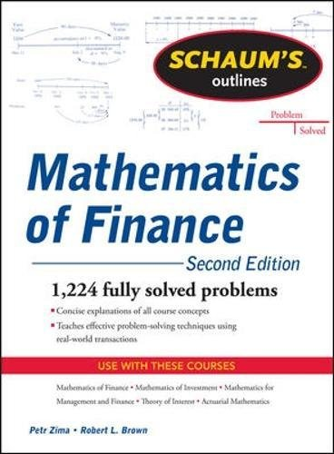 Schaum's Outline of Mathematics of Finance, Second Edition por Robert Brown